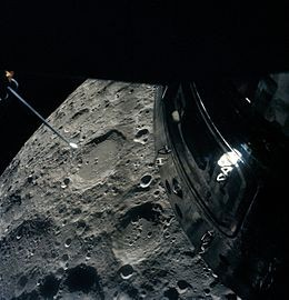 Picture taken from the Apollo 13 Lunar Module as it orbited