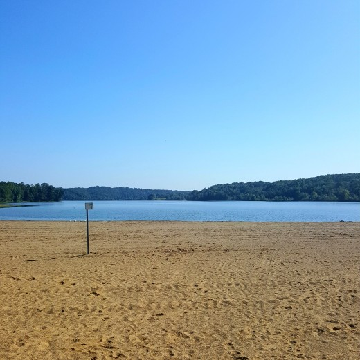 The beach at Salt Fork State Park.