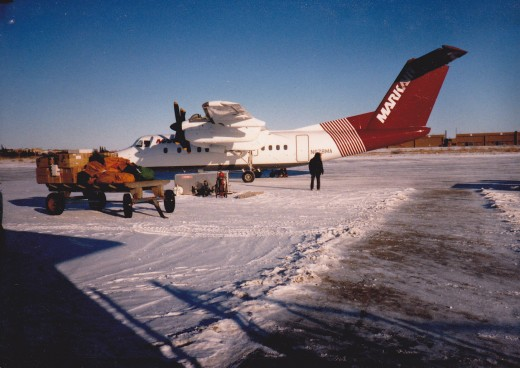Mark Air flight on the ground at the King Salmon Airport in the 90's.