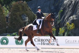 Canadian Brittany Fraser-Beaulieu riding AlI In.