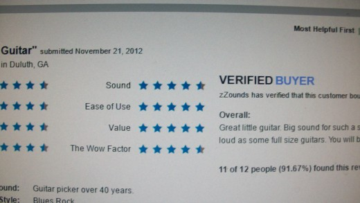 Customer ratings on the Baby Taylor. I like that I have found ratings from a 40 year guitar player.