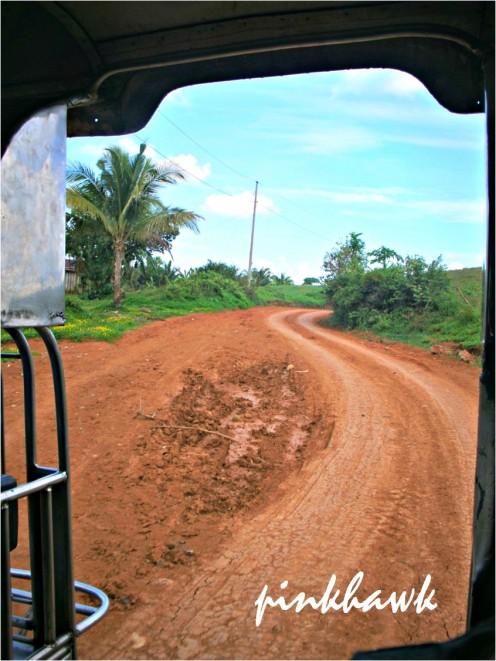 the reddish brown soil road