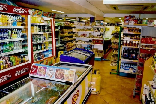 This type of grocery store will definitely install a CCTV to monitor its guests because all the products can be easily grabbed and hidden.