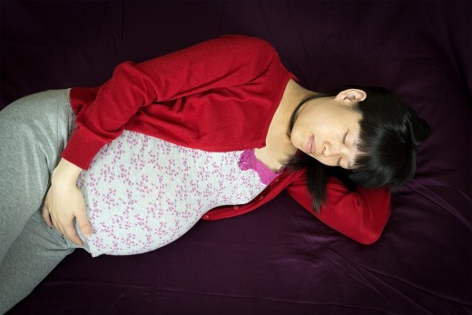 Sleep on a left side position to ensure a normal flow of the blood for you and your baby.