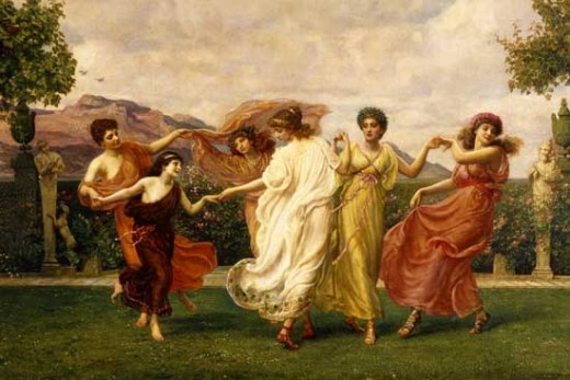 The Horae (Seasons), by Sir Edward John Poynter  (1836-1919)