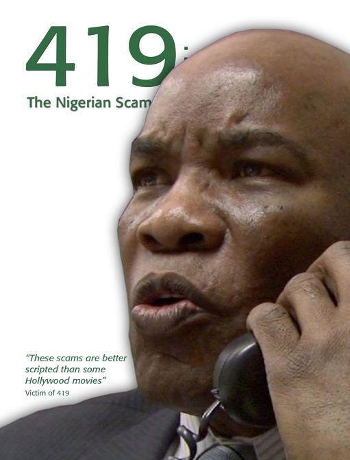 Nigerian 419 scammer calling a victim
