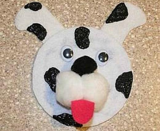 37 fun and easy dog craft ideas feltmagnet for Dog craft ideas