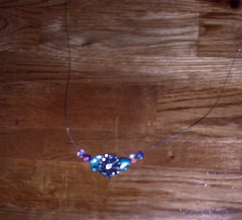 In this step I begin adding the glass beads.
