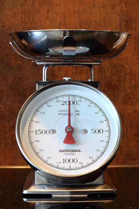 Cooking scales may look like this in the photo and some are digital.