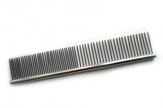 Dog combs are easier to clean by just soaking, washing and drying them.