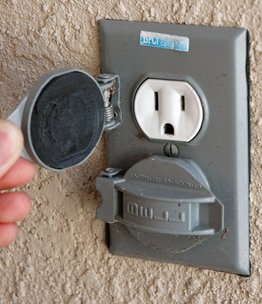 Outdoor outlets should be installed in a safe area free from water and unreachable by children.