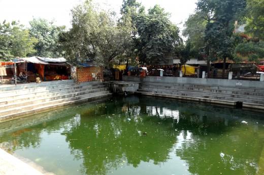 Sacred pond inside Lalita Devi temple