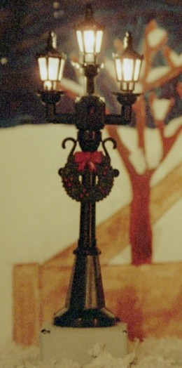 fig. 4.1 You can dress your set with ready-made items such as this street light.