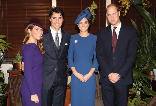 the Duke and Duchess with Canada's Prime Minister Justin Trudeau and his wife, Sophie