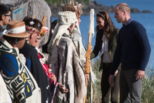 the couple met with Haida Gwaii elders and chiefs on the island off the coast of B.C.