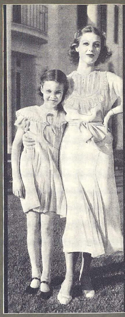 I like this picture of Georgiana and Loretta Young, simply because they remind me of my own daughters. Despite their huge age difference.
