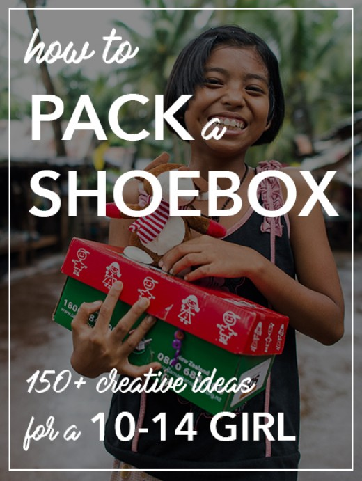 How to Pack a Shoebox for a Girl 10-14