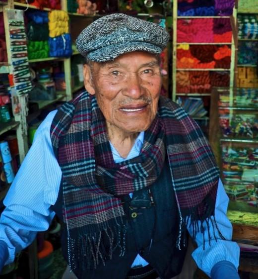 A vendor in Guatemala