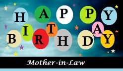 Happy Birthday Message for a Mother-in-Law
