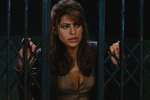 Eva Mendes stars as Roxanne Simpson. Copyright Sony Pictures, Columbia Pictures, and Marvel Entertainment via www.moviestillsdb.com.