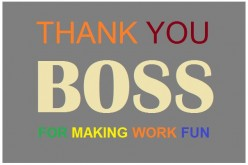 Thank you Notes and Appreciation Messages to a Boss or Manager