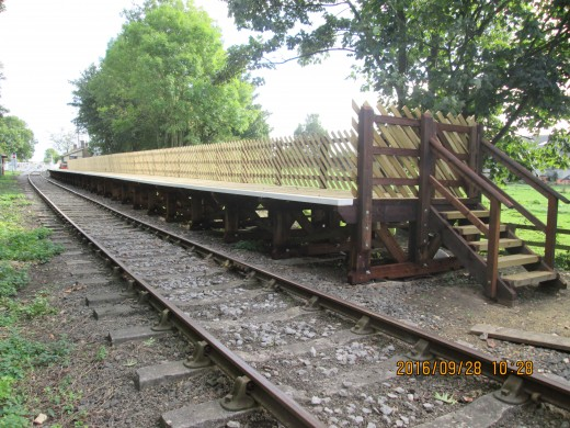 The platform extension looks good, raised to standard height. You can see the difference...