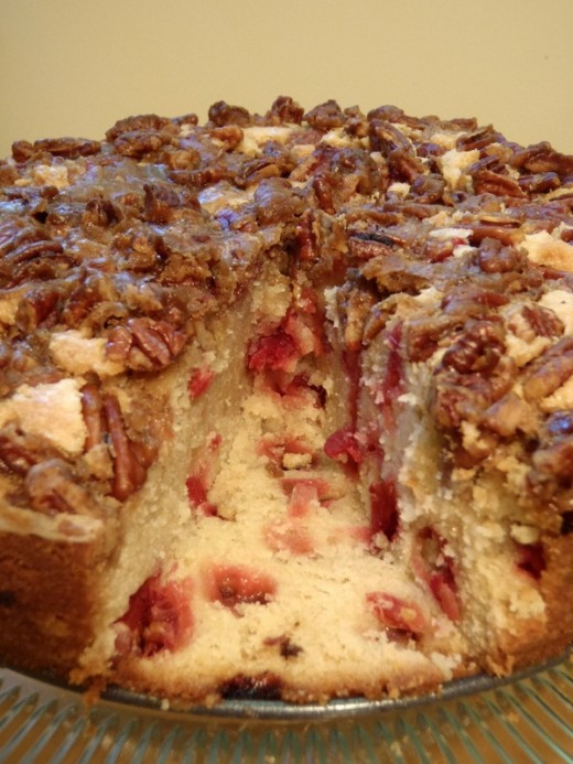 Cranberry Cake With Pecan Topping Recipe