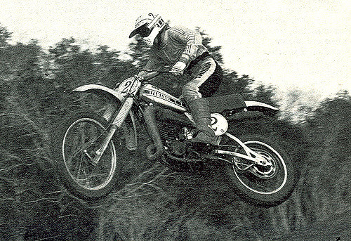 This is a photo of Bob Hannah on one of his famous rides.