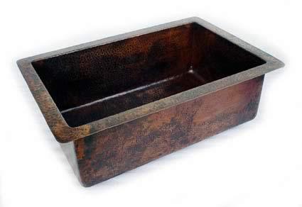 Undermount copper kitchen sink
