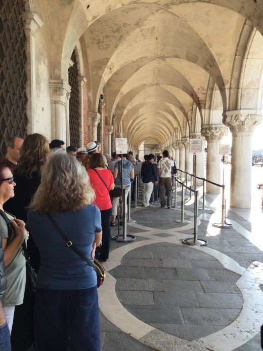 9 a.m. at the Doge's Palace and the queues are forming