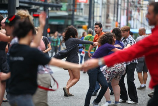 Swing Dancing on Granville Street