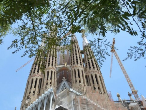 Work on the Sagrada Família continues (c) A. Harrison