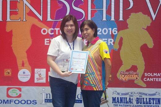 Thanks to SM SouthMall thru Ms. Bambi Santayana who received the plaque and certificate from SOP NCR South President Ms. Cristy