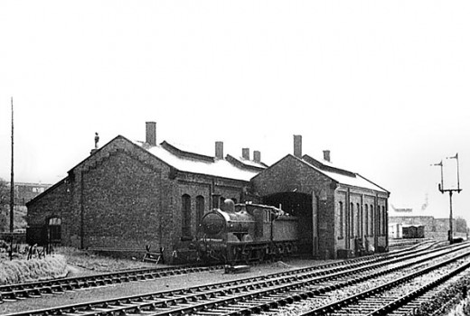 Pre-WWII, Halcyon Days: Part of Northallerton's motive power depot in 1937 with a Class J21 0-6-0 for local passenger working to Hawes on the Wensleydale line