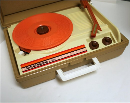 Before cassette tape players, CD's and MP3 players; 45s and portable, battery operated, 45 record players were the best way to have fun and share music with friends.