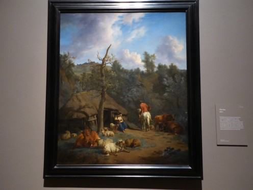 The Hut, Adriaen van de Velde 1671: Dutch Master of Landscape. Image by Frances Spiegel with permission from Dulwich Picture Gallery. All rights reserved.