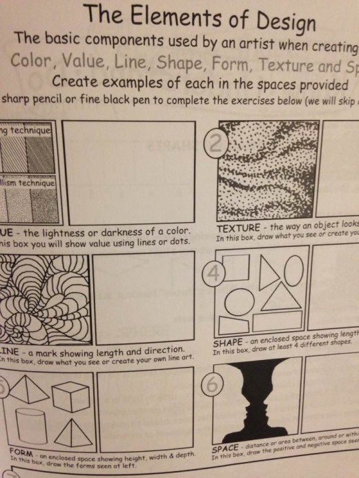 Step-by step instructions in art design