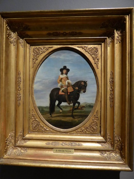 Portrait of a man on horseback, Adriaen van de Velde 1568.  Image by Frances Spiegel with permission from Dulwich Picture Gallery. All rights reserved.