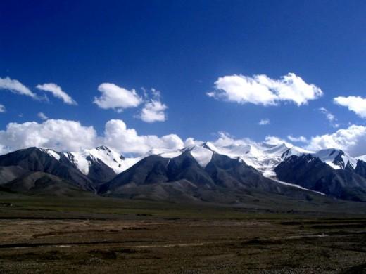 The remote Kunlun Mountain Range.