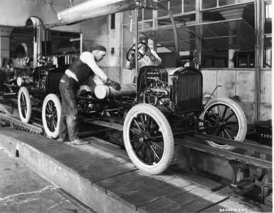 Henry Ford's conveyor belt based assembly