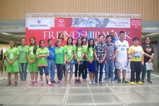 Recognition of female unified silver medalist and male unified  bronze medalist that represented SOP NCR South at the 1stSOP 5-aside football National Games in La Union.