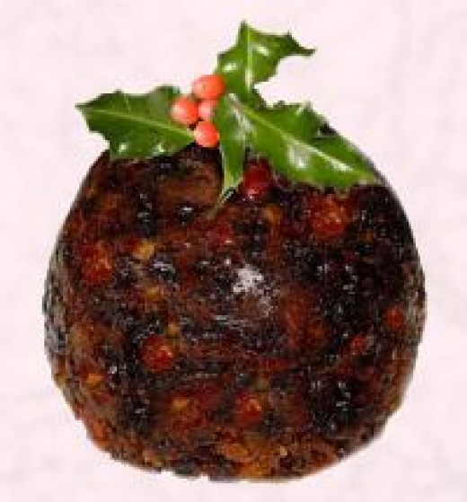 A Christmas Pudding. Nanny wrapped them in muslin and then boiled them in the copper that was in her cellar. They are made up to one year in advance.