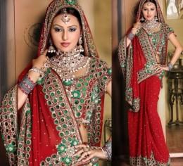Sari is the most popular type of female attire in India