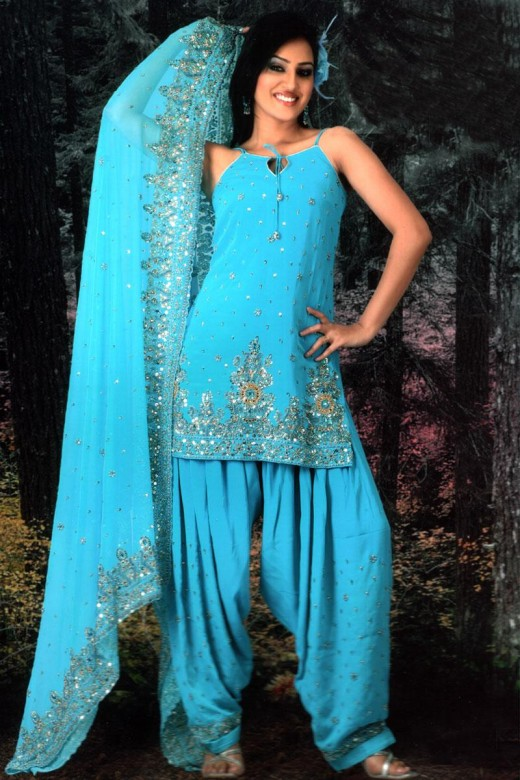 Salwar kameez is a costume, which consists of two elements,