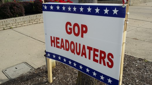 The GOP Party in my county apparently gave the proofreader the day off on sign-making day.