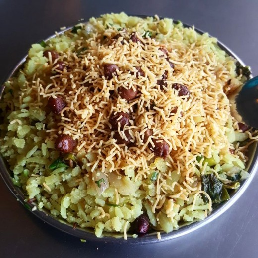 Batata (Potato) Poha (Flattened Rice)