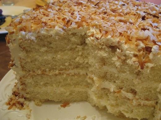Cut Coconut Cake