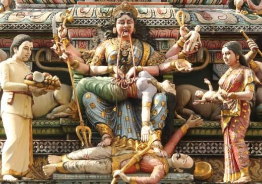 Human sacrifice to the goddess (demoness) Kali