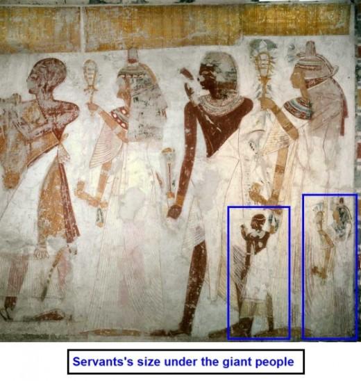 """Giant """"gods"""" of Egypt."""
