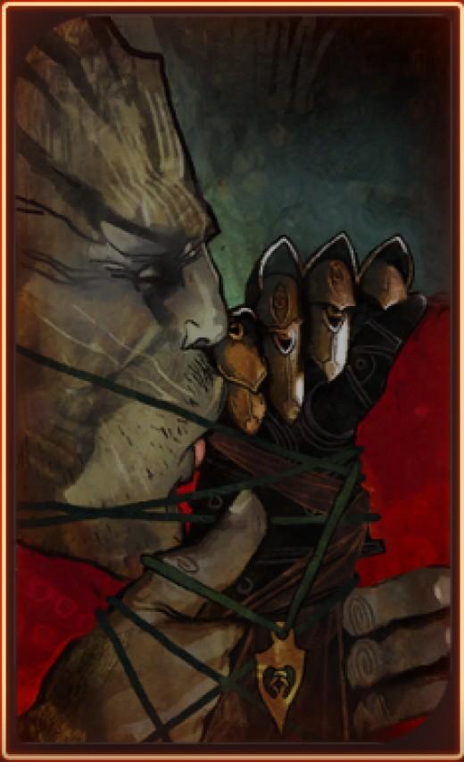 Iron Bull's romance tarot card